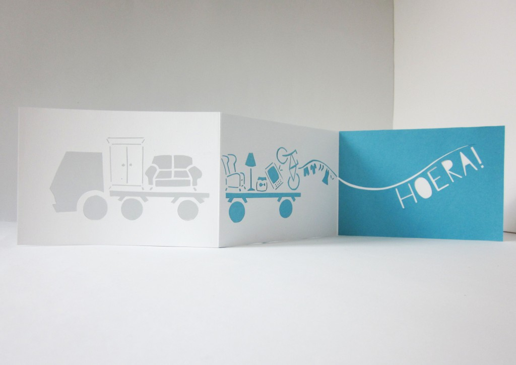 Moving Truck Card